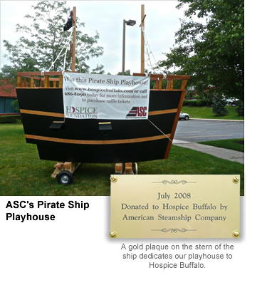 ASC Pirate Ship Delivered To Benefit Hospice Buffalo